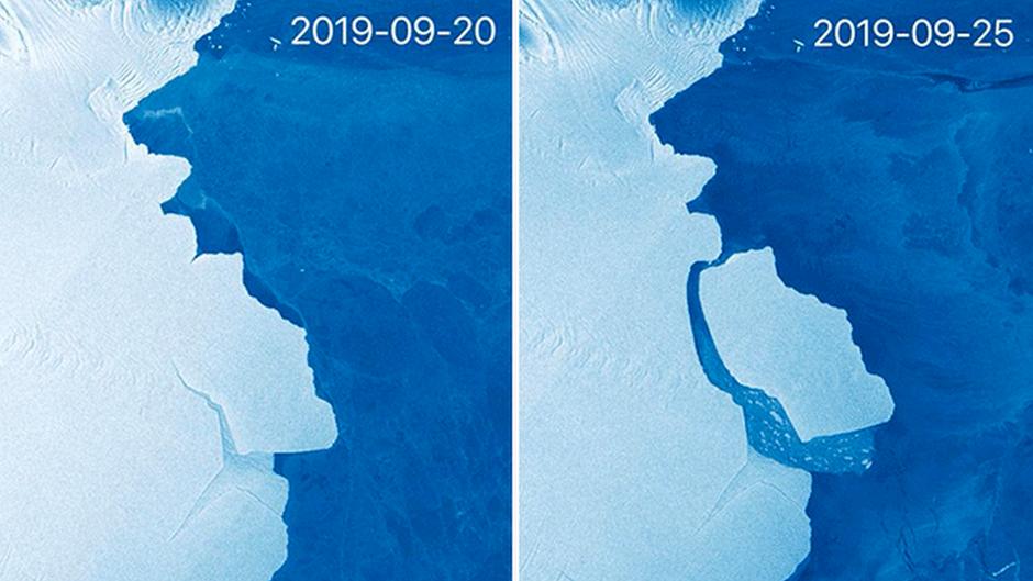 Iceberg gigante se desprende da Antártida e passa a ser monitorado por cientistas