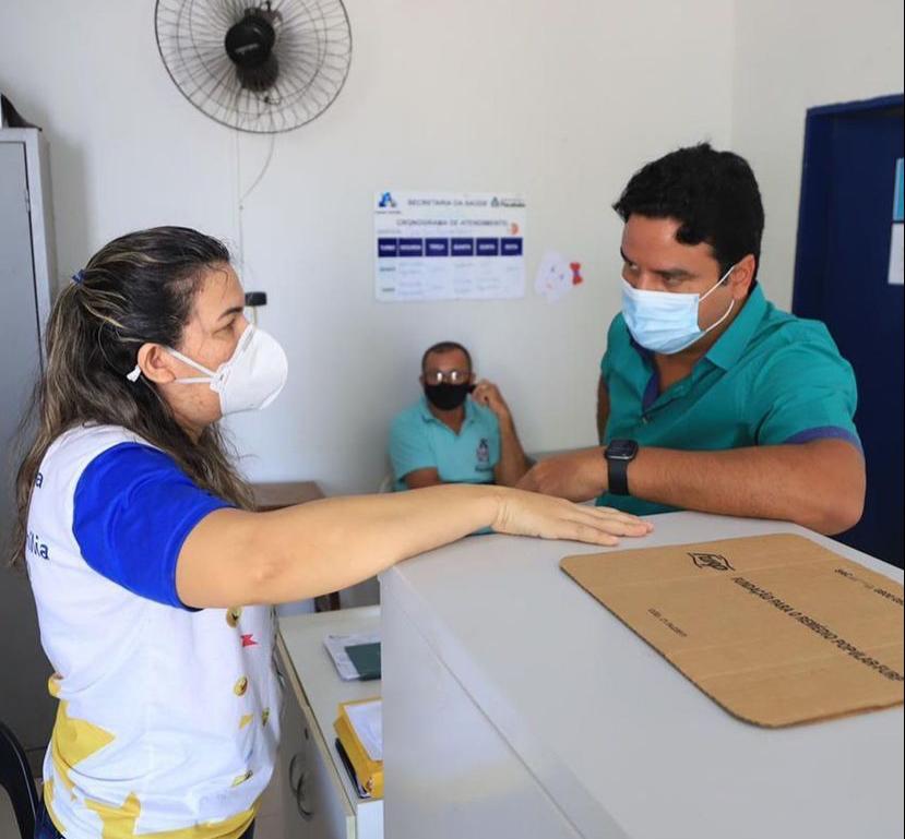 Pacatuba: vice-prefeito Rafael Marques visita unidades de Saúde do Conjunto Jereissati