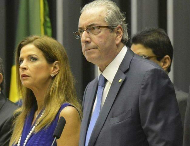 Ex-deputado Eduardo Cunha e sua esposa Cláudia Cruz  podem estar com câncer