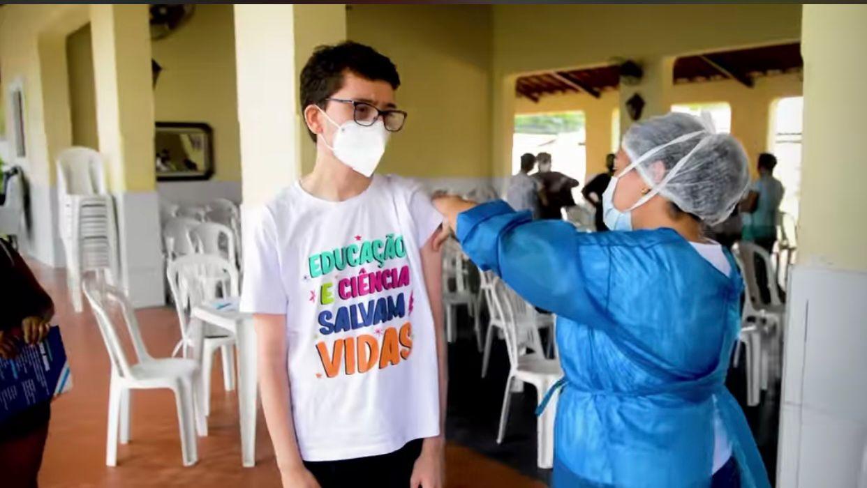 Prefeitura de Caucaia agenda vacinação para crianças a partir de 12 anos