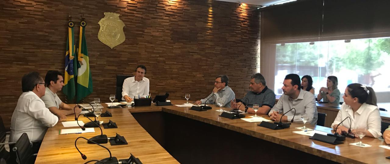 Camilo, Domingos Neto e Dnit buscam solução para finalizar obra do Anel Viário e BR 222