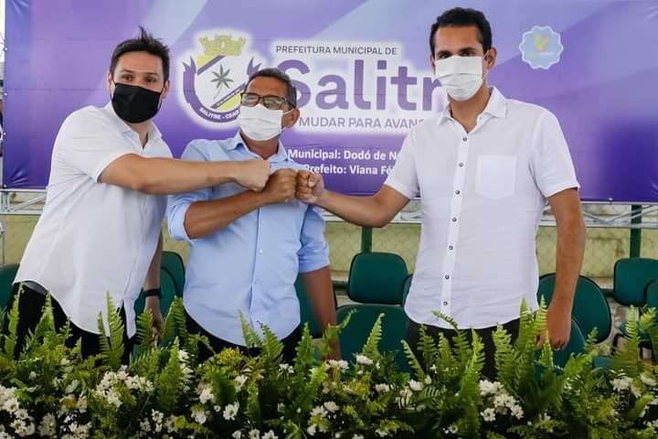 Domingos Neto fecha apoio para reeleição com lideranças políticas de Salitre e Icó