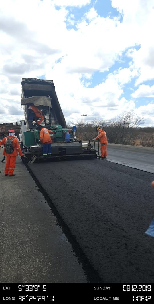 BR 116 em Nova Jaguaribara sendo revitalizada pelo Governo Federal a pedido do deputado Capitão Wagner