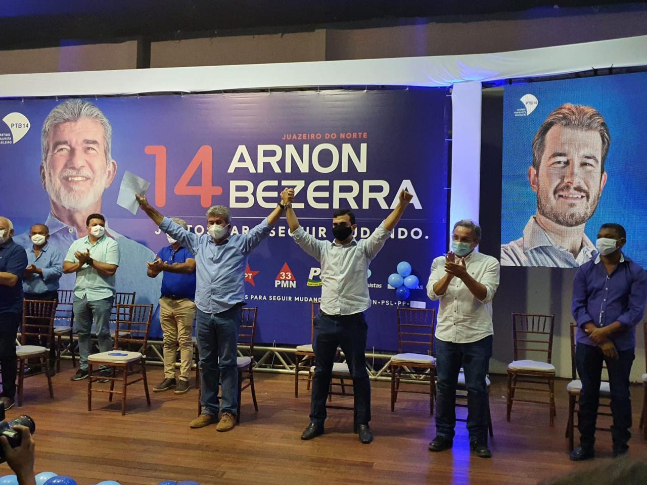 Lula, Ciro, Roberto Jefferson e Bolsonaro no mesmo palanque no Ceará