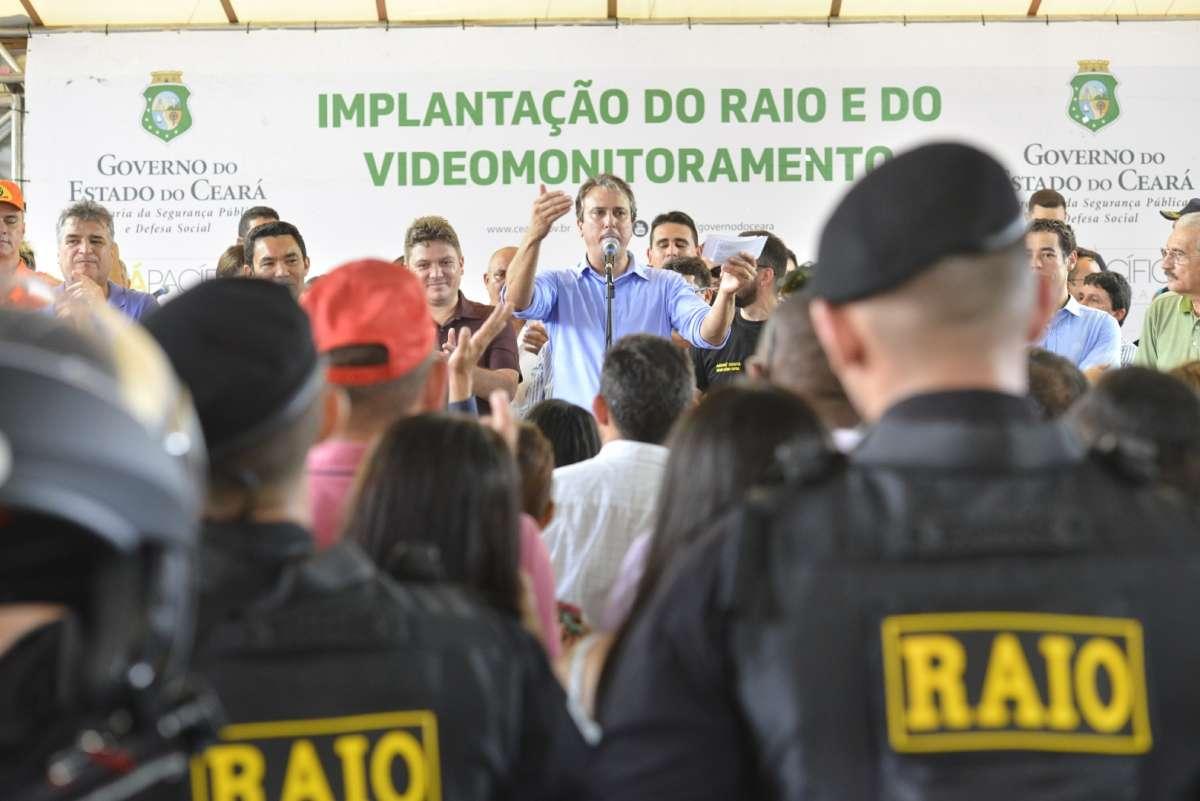 População de Trairi recebe equipes do Raio e sistema de videomonitoramento
