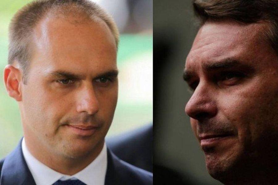 Flávio e Eduardo Bolsonaro são destituídos dos comandos do PSL de Rio e São Paulo