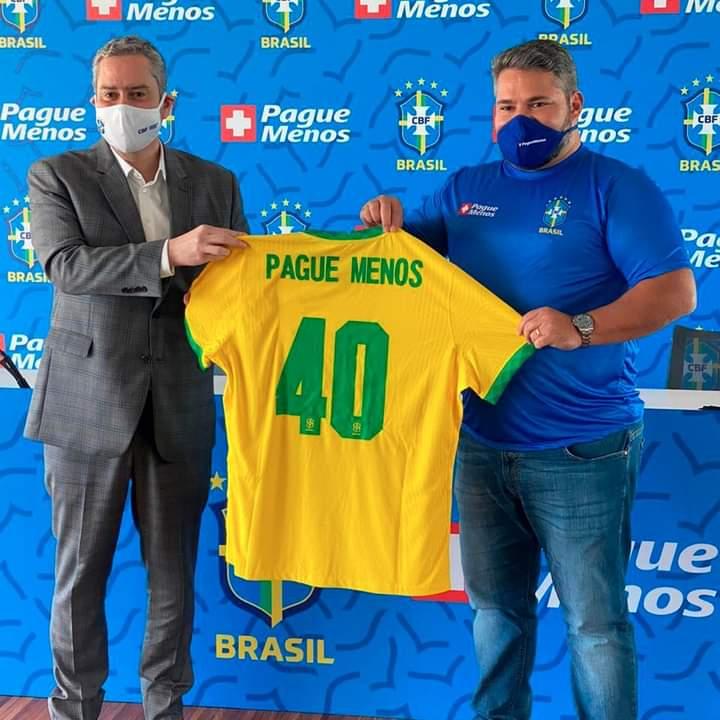 Farmácias Pague Menos é a nova patrocinadora da Seleção Brasileira de Futebol