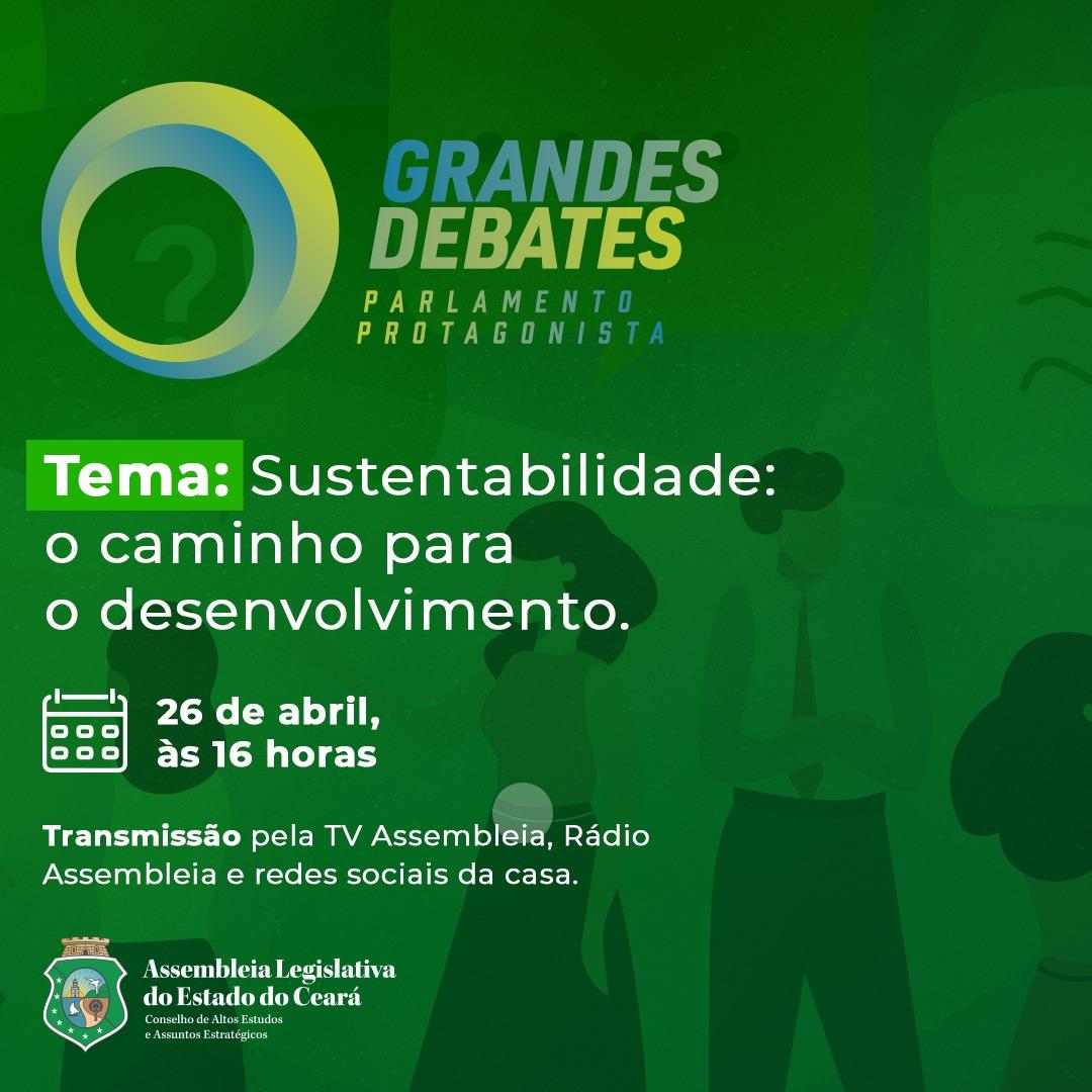 Assembleia Legislativa discute sustentabilidade na 2ª edição do 'grandes debates -parlamento protagonista'