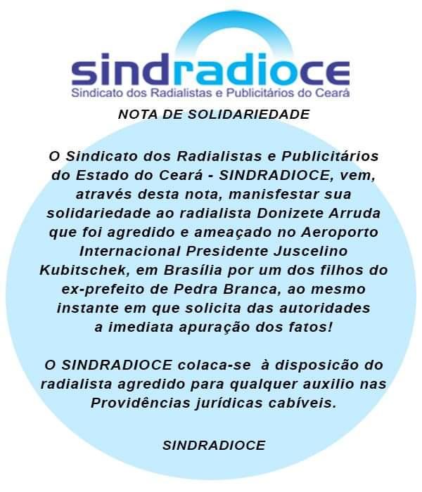 Sindicato dos Radialistas denuncia violência e cobra providências por agressão ao jornalista Donizete Arruda por parte de filho de ex-prefeito