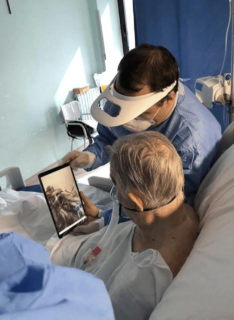 Idosos se despedem de parentes através de tablets antes morrer na Itália