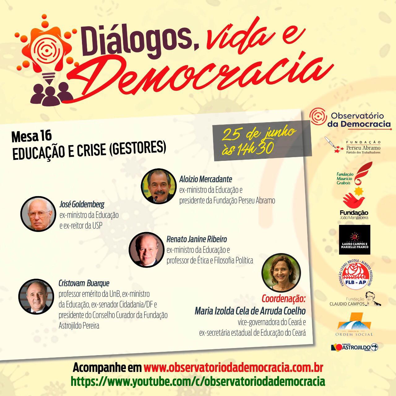 Izolda Cela debate educação e desafios da pandemia com ex-ministros da Educação