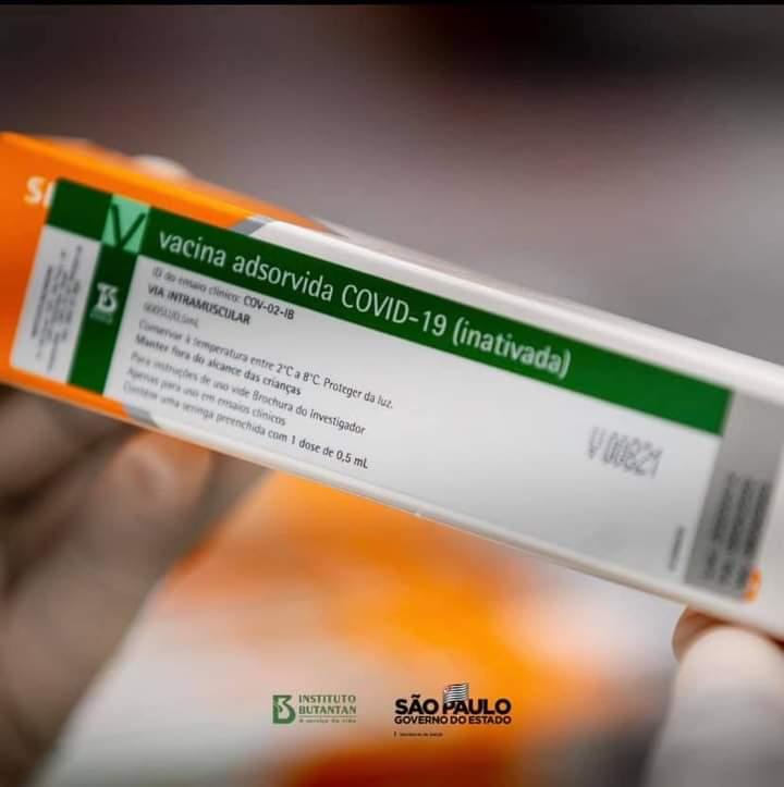 Butantan recebe 3 mil litros de IFA para produzir 5 milhões de doses da CoronaVac