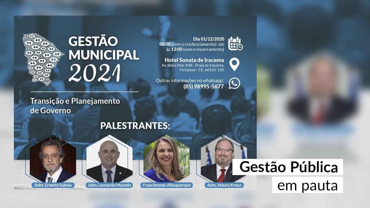 Ao lado do TCE-CE, CRA-CE vai realizar evento para orientar prefeitos sobre transição de governo