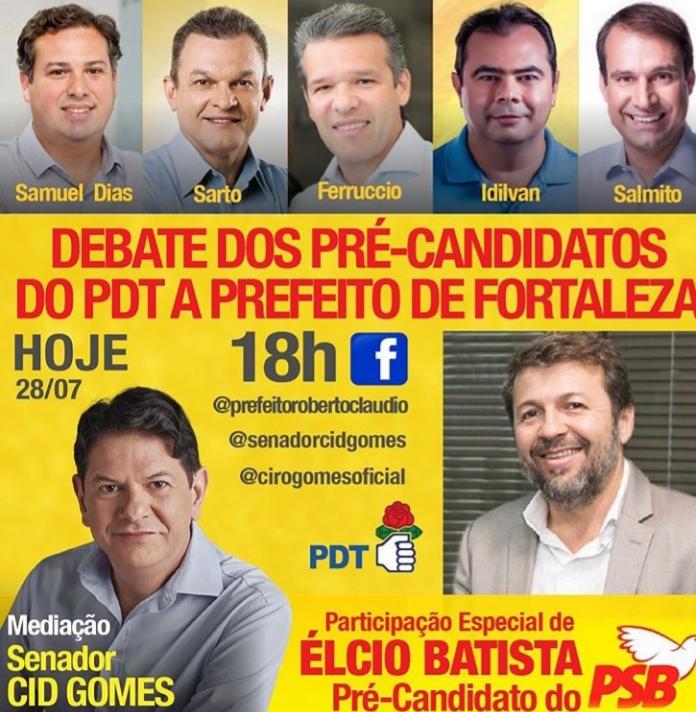 PDT promove debate nesta terça-feira, com Élcio Batista