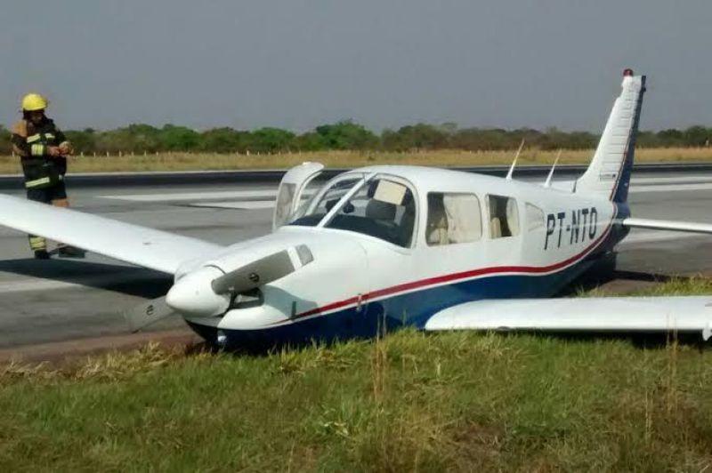 Avião cai antes de pousar