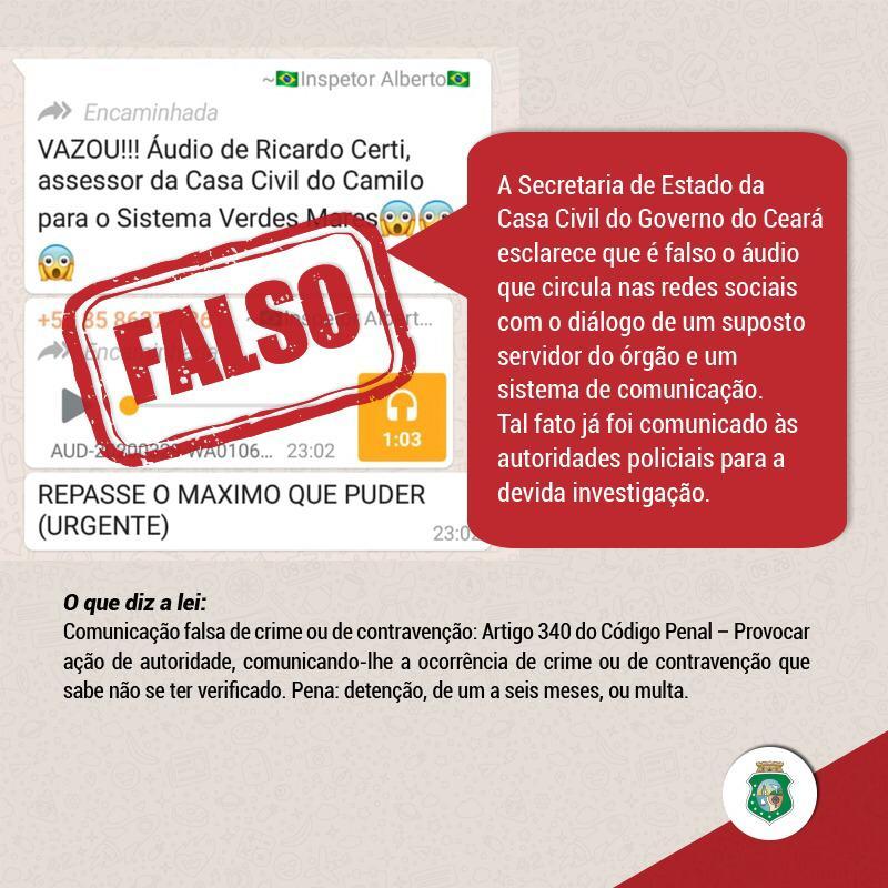 Camilo afirma que áudio de suposto assessor do Governo do Estado com sistema de comunicação é falso