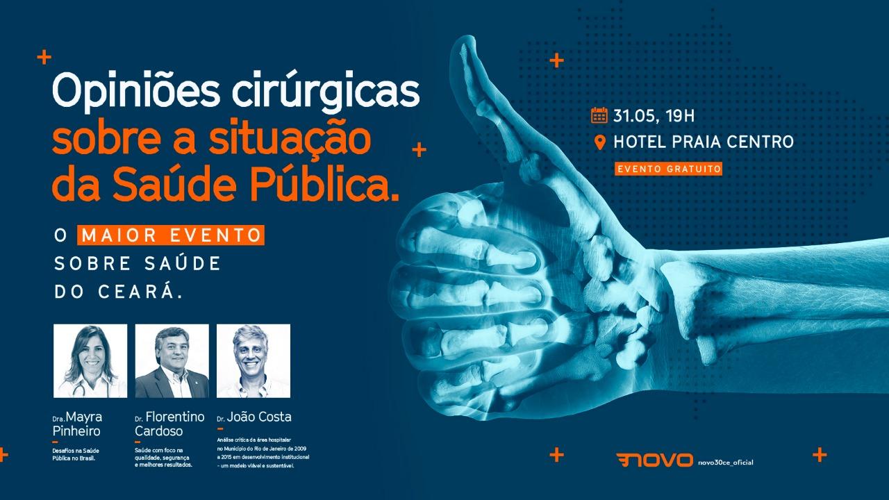 Partido Novo realiza debate sobre saúde pública nesta sexta-feira