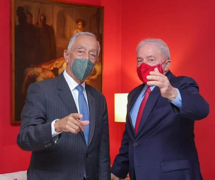Lula recebe presidente de Portugal