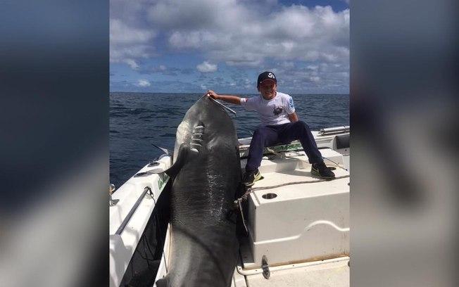 Tubarão de mais de 300 quilos é capturado por menino de oito anos na Austrália